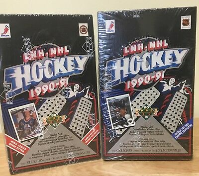 1990/91 Upper Deck French Hockey Combo:one Box Each High And Low Series