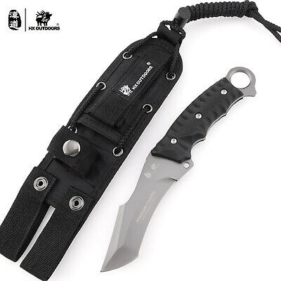 HX OUTDOORS Fixed Blade Full Tang Tactical Hunting Survival Knife With Sheath