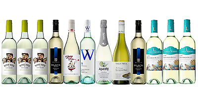 Mixed Sauv Blanc White Wine Trial Pack 5-Star Winery 12x750mL FAST FREE SHIPPING