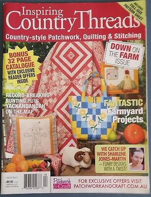 Inspiring Country Threads Magazine Vol.15 No.2, Bag Patchwork, Quilting Doll