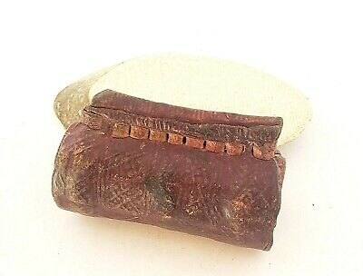 Old Ethiopian Leather Healing Scroll Protection Amulet from 1800s