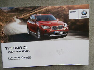 BMW X1 E84 Quick Reference Guide Englisch 2/2013 Manual