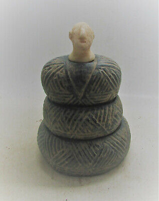 Scarce Circa 2300-1600Bc Bactrian Margiana Chlorite Stone Diety Superb