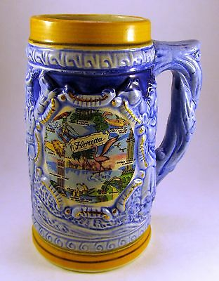 Ceramic Pensacola Beach, Florida Souvenir Beer Stein (Pint)