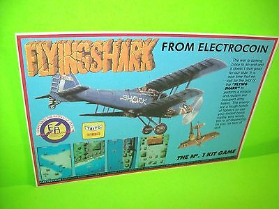 Taito FLYING SHARK Original NOS 1987 Video Arcade Game Flyer Electrocoin UK Rare