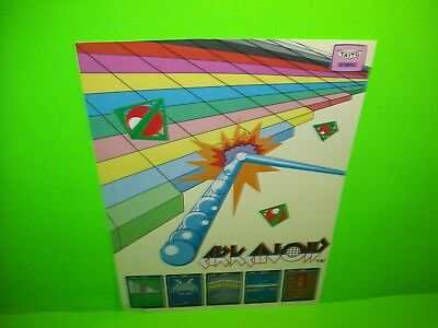 Taito ARKANOID Original 1986 Classic Video Arcade Game Promo Sales Flyer Rare