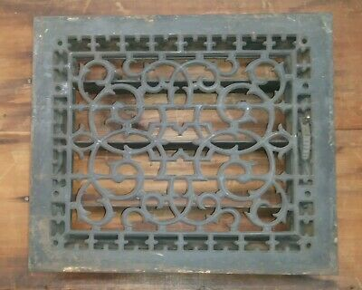 Antique Victorian Ornate Cast Iron Grate Heat Register Tuttle & Bailey NY 1872