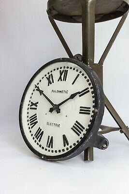 Vintage Industrial Cast Gents of Leicester Factory Railway Station Wall Clock