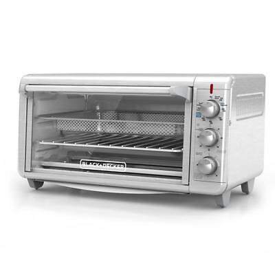Black & Decker TO3265XSSD-HD Crisp 'N Bake Air Fry 1500 W 8 Slice Toaster Oven