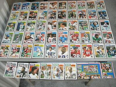 1987 Topps UK NFL American Football 59 Various Cards in Collectors' Box