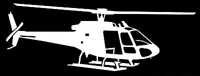 EUROCOPTER AS350 HELICOPTER - Adhesive, Computer Cut Vinyl Decal, Last 6 years!!