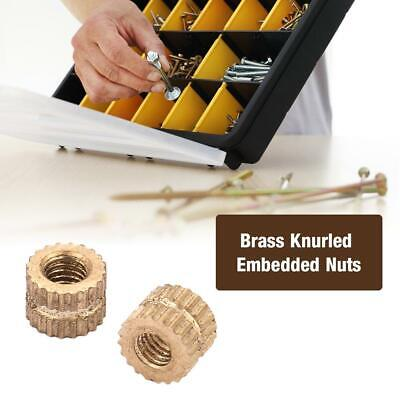 50pcs High Quality Brass Cylinder Knurled Round Molded-in Insert Embedded Nuts
