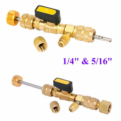 """AC Schrader HVAC Tool Valve Core Remover Dual Size 1/4"""" and 5/16"""" Port Installer"""