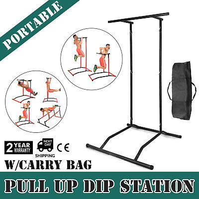 PORTABLE PULL UP Dip Station Gym Bar Power Tower Stretch