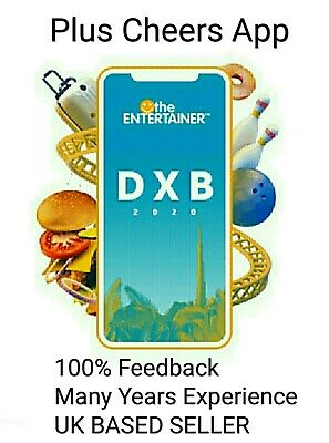 Dubai Entertainer 2020 App Rental + Cheers - 7 day - Brand New + Attractions