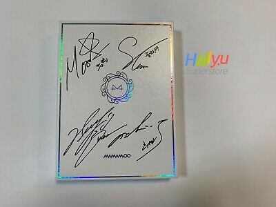 "Mamamoo ""White Wind"" 9th Mini : Autographed(Signed)  Promo CD - PRINTED!"