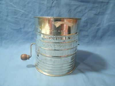 Bromwells Vintage Large Metal Flour Sifter Large Made In Usa