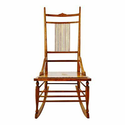 Antique Wood Spindle Back Rocking Chair