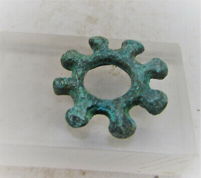 Ancient Celtic Bronze Serated Proto Ring Money Ancient Currency