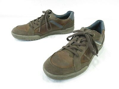 929cbf13e0d6 ECCO Sneakers Mens 43 9-9.5 Brown Leather Lace Up Casual Oxford Comfort  Walking