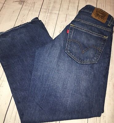 Levis 569 Boys Size 14 (27X27) Loose Straight Blue Jeans Distressed