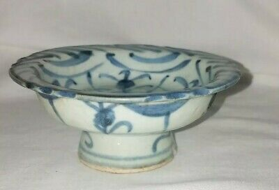 Chinese Porcelain Stem Cup Ming Yuan Dynasty???