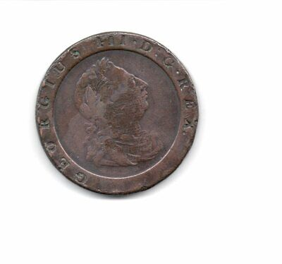 GEORGE III - Issued in 1797 - Cartwheel Two Penny Coin - Good