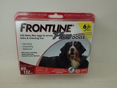 New Merial Frontline Plus for XL Dogs 89-132lbs (40-60kg) 6 Months EPA Approved