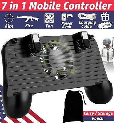 PUBG Mobile Phone Game Controller Joystick Cooling Fan IOS Android Gamepad L1R1