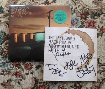 The Jayhawks CD Back Roads and Abandoned Motels Sealed With Signed CD Booklet