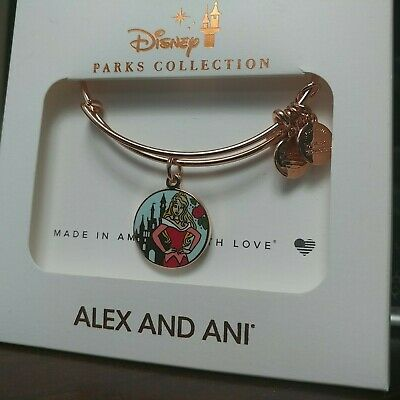 "Disney Park Alex & Ani Sleeping Beauty Aurora""True Love Conquers All"" Bangle New"