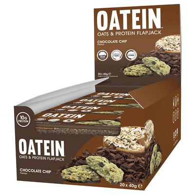 Oatein Flapjack (20 x 40g) - High Protein with Oats Complex Carbohydrate Healthy