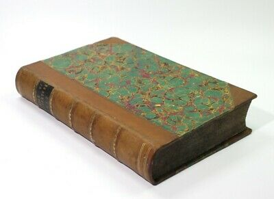 Rare 19th Century 1/2 Leather Antique Book Journal of Agriculture Published 1852