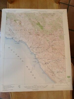 Vtg Topographic Map 1919 San Luis Obispo County War Department U.S. Army At Top