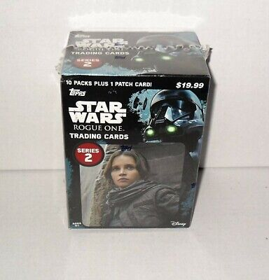 Topps Star Wars Rogue One S2 Trading Cards Blaster Box (10) Packs & 1 Patch Card