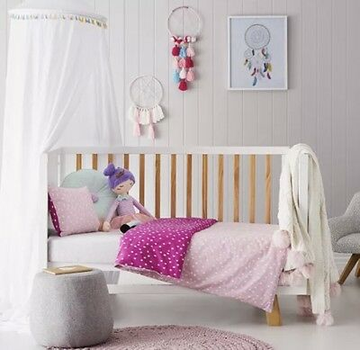 Brand New Adairs Kids DARCY SPOT Cot Quilt Cover Set