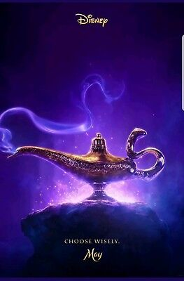 Aladdin Will Smith Naomi 2 Sided Original Advance 27X40 Movie Poster