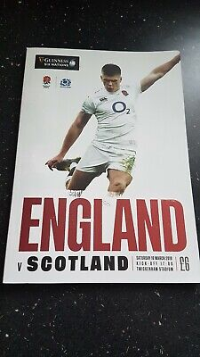 Official Programme England v Scotland 6 Nations Rugby Match, 16th March 2019