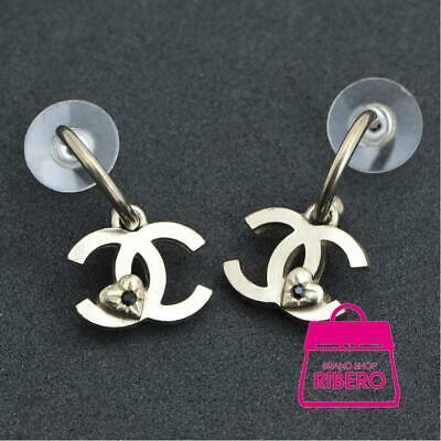 Auth CHANEL Women Gold PlatedxGold Plated earring