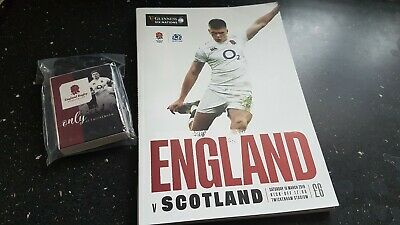Official Programme England v Scotland 6 Nations Rugby 16th March 2019 + Ref link