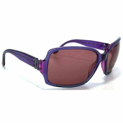 a339cad8d2617 Used Authentic CHANEL Women Sunglasses Coco Logo Purple Headband Plastic  Japan