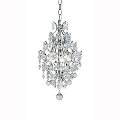 Hampton Bay 3-Light Chrome Branches Pendant with Crystals
