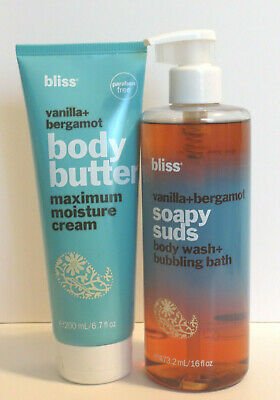 Bliss 2pc Body Butter & Soapy Suds Set-Vanilla+Bergamot