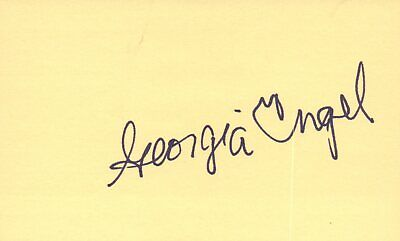 Cards & Papers Movies Georgia Engel Actress 1980 Nyc Tv Movie Autographed Signed Index Card