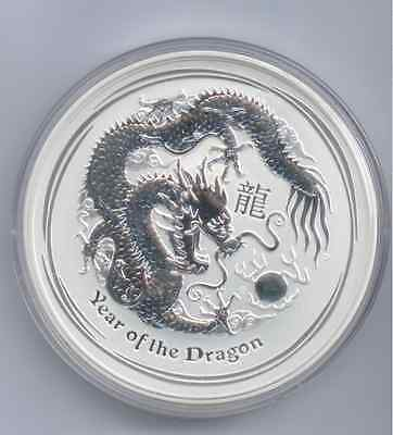 Perth Mint 2012, Dragon, 2 oz Silber 999**