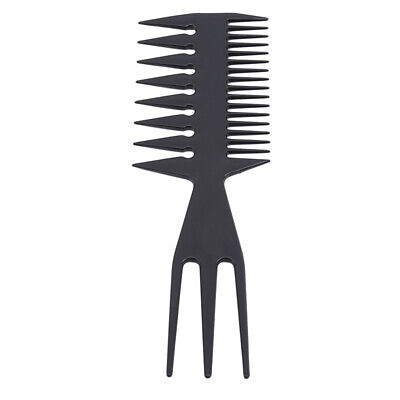 Three-sided Hair Comb Show Wide Tooth Combs Hair Insert Hair Pick Comb shan