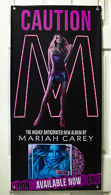 "Mariah Carey ""Caution"" Vinyl Banner (100 x 50) New Album Promo"