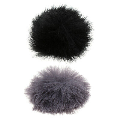 2pcs Outdoor Furry Cover Microphone Windscreen Wind Muff for Lapel Mic