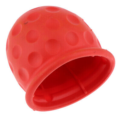 Towbar Cap Cover Rubber Tow Ball Towing Protect Red for Car Van Trailer