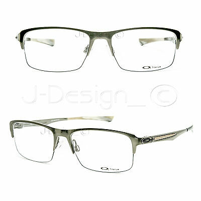 df74eeef0d Oakley HOLLOWPOINT 0.5 OX5091-0252 Cement Titanium 52 17 138 Eyeglasses Rx  New